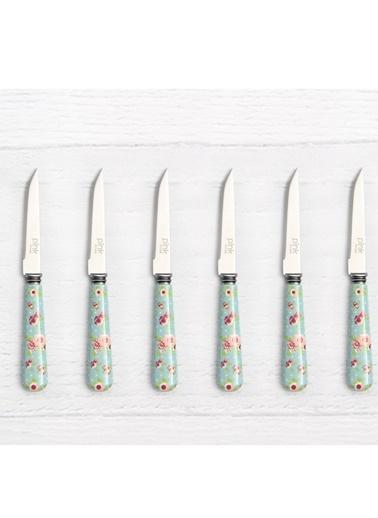 Mint Blue Rose 6'lı Meyve/Tatlı Bıçağı-Pink&More